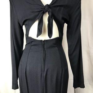 VINTAGE Knapp Studio CA Black Tie Back Dress